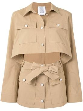Khaki slit utility jacket