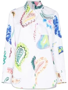 Multicolor Oversize Paisley Print Button Up Shirt