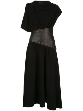 Black Asymmetric sleeve dress