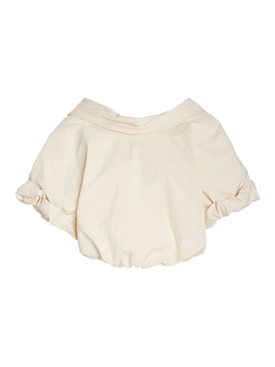 Bubble Crop Top BONE