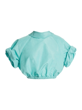 Bubble Crop Top AQUA