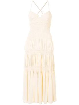 Ecru Bustier Smocked Dress