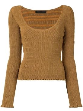 Saffron Smocked Knit Top