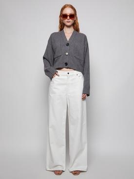 Eco Cashmere Cardigan Grey Melange