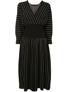 Chalk Stripe Knit Dress