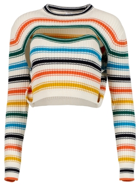 Thousand-In-One-Ways Cardigan, Rainbow Multicolor