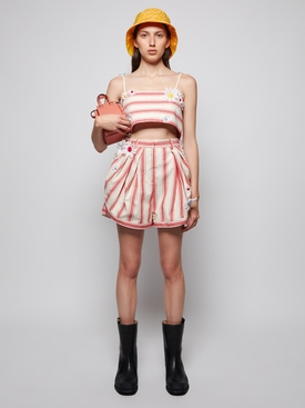 Easy Striped Bandeau Top red stripe
