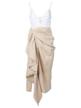 Layered Cami Ruffle Dress Natural