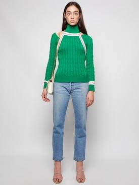 Knit Hold My Bolero Sweater Green