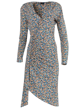 Atlein - Multicolored Floral Gathered Dress - Women