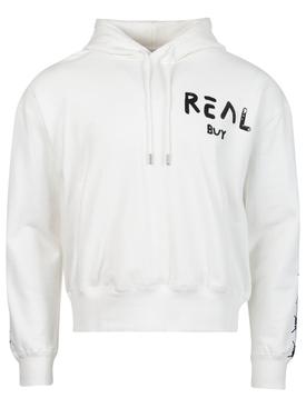 Logo Hooded Sweatshirt White