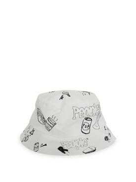 Graffiti Bucket Hat White