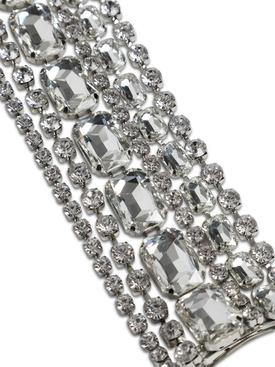 Silver-tone Baguette Crystal Fringe Hairclip