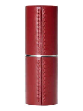 Refillable Red Fine Leather Case