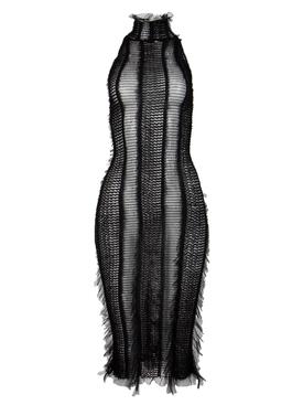 Angel Midi Bodycon Dress Black