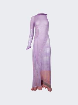 Bianca Knit Maxi Dress Violet