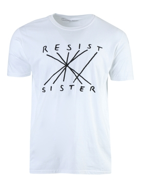 RESIST SISTER T-SHIRT WHITE