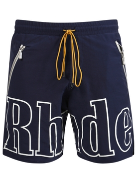 NAVY LOGO SHORTS