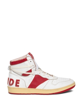 RHECESS HI TOP SNEAKER WHITE AND RED
