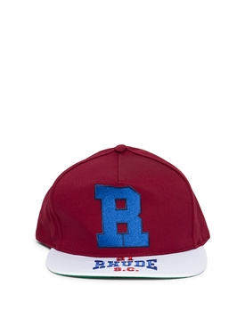 R Trucker Hat Maroon and White