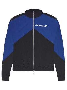 X McLaren Flight Jacket Black And Blue