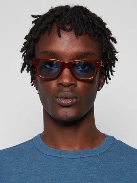classic rectangle sun ray sunglasses BROWN