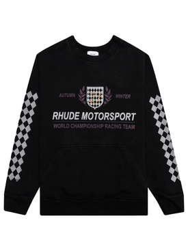 Motor crest crewneck black