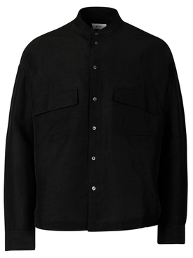 MALTA BUTTON DOWN SHIRT BLACK