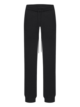LAZE COTTON-CASHMERE JOGGER PANT, BLACK