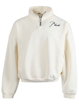 Classic quarter-zip sweatshirt, cream