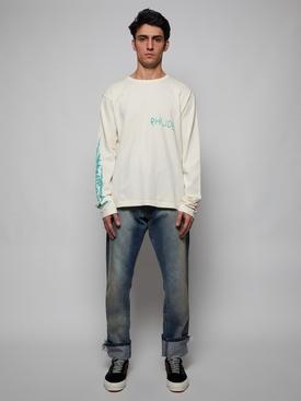 Scabbing long sleeve t-shirt, white