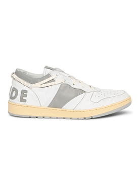 RHECESS LOW-TOP SNEAKER, WHITE AND GREY