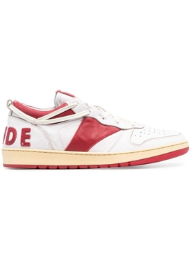 Rhecess Low-top Sneakers, white and red