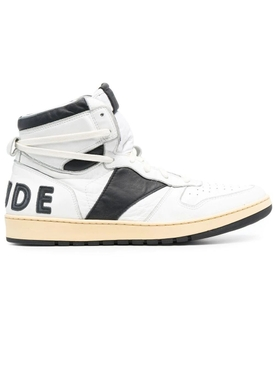Rhecess High-Top Sneakers, white and black