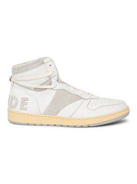 RHECESS HIGH-TOP SNEAKER, WHITE AND GREY