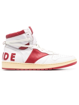 Rhecess High-Top Sneakers, white and RED
