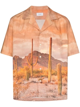 Cactus Landscape Button-Down Shirt