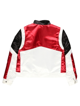 Satin Racing Zipped Jacket MULTICOLOR