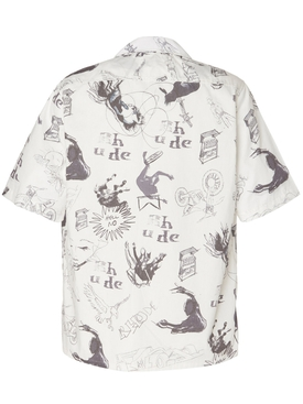 Doodle Hawaiian bowling shirt
