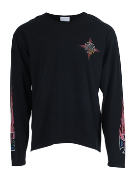 Neon flame long-sleeve t-shirt