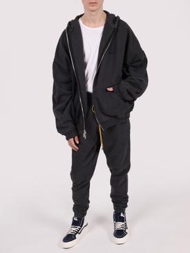 Zipped Hoodie, Black