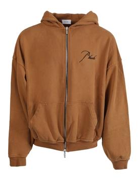 Tan zipped hoodie