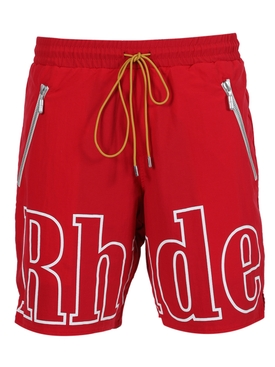 Red Logo Elastic Shorts