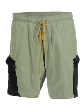 Green Side Pocket Drawstring shorts