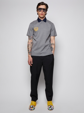 X Gallery Dept. Grey Printed Polo