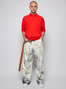 X GALLERY DEPT. LARGE PANTS WITH LEATHER BELT