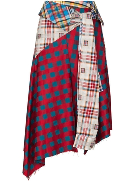 Multicolor Patchwork Skirt