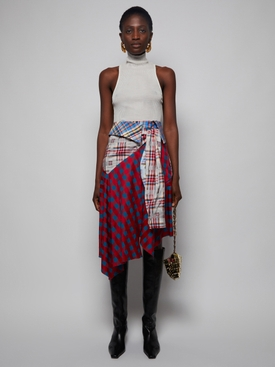 Multicolor Patchwork Skirt