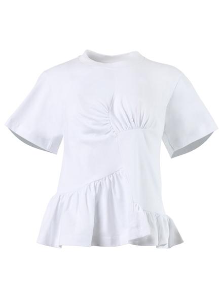 Marques' Almeida Paneled Gathered T-shirt White