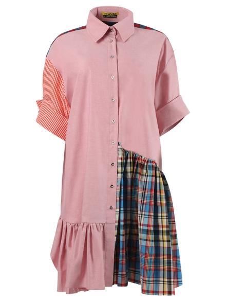 Marques' Almeida Asymmetric Patchwork Dress